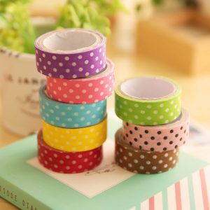 DIY Discount Cute Decorative Belt 15mm * 4m Stickers Scrapbook Stationery School Supplies Cartoon Paper Self-adhesive Paper Tape