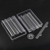 2Sets Home Jewelry Storage Box Bead Roller For Making Polymer Clay Beads Transparent Makeup Organizer 10.2x6.4x1.9cm