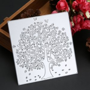 DIY Metal Cutting Dies Big tree family Design Scrapbook card album paper craft home decoration embossing stencil Template cutter