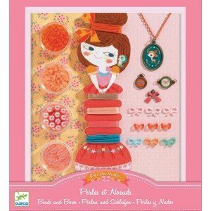 Djeco Beads and Bows Jewelry Making Kit