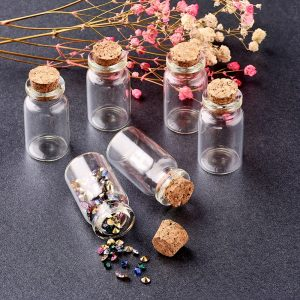 40x22mm HOT Mini Clear Glass Vials Jewelry Special Jewelry Gift Bead Storage Cork Jar Containers Wish Bottle Making Tampion