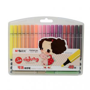 48 Colors/Set Washable Large Color Pens with Triangle Barrel Kids Art and Crafts...