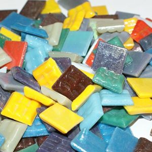 "Hakatai Glass Mosaic Tile 5/8"" – ½ Pound Rainbow Bright Blend FBL08"