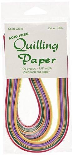 Lake City Craft Quilling Paper 1/8-Inch 100-Pack, 25 Colors