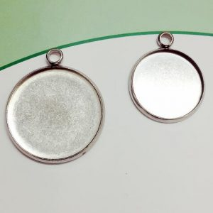 10pcs Fit mm Stainless Steel Single Circle Round Pendant Charm Blank Jewelry wit...