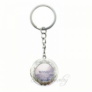 Fashion Quotes Work Hard Dream Big Art Picture Glass Cabochon Locket Pendant Key...