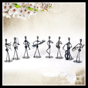 Set of 8 Pieces Small Music Iron Man Figurine Metal Craft Gifts Home Decor Home Decorations Ornaments ElimElim