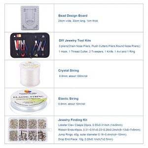 PandaHall Elite Jewelry Making Starter Kit Complete Bead Board Beading Wire DIY Jewelry Tool Pliers Kit Mix Lot Pack