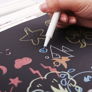 STA 10 Colors Lot Metallic Marker Pen DIY Scrapbooking Crafts Soft Brush Pen Art...