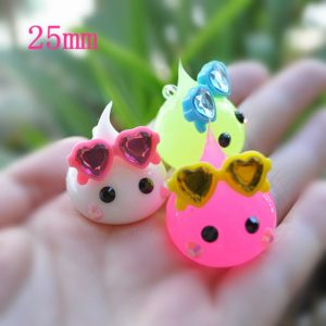 For DIY Phone Decoration 3pcs(It Is Soft) Cabochon 25mm Aorable Silicone Charms ...