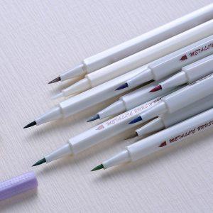 10pcs/lot STA 1-2 mm Metallic Marker Pen DIY Scrapbooking Crafts Soft Brush Pen ...