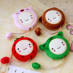 Novelty Nice Funny Cute Cartoon 150cm 60″ Retractable Tape Measure Plush Ruler Sewing Tool AA7543