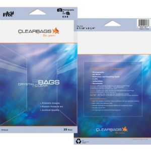 ClearBags 8 x 10 Seal Top Cellophane Bags | Perfect Poly Bags for Photos, Art, Pictures, Posters and More | Crystal Clear Archival Safe | RPA 8X11 (Pack of 25)